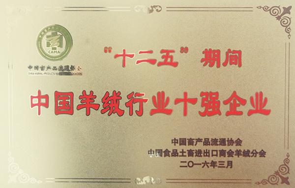 中国羊绒行业十强企业